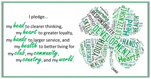 This image has an empty alt attribute; its file name is 4-H-pledge-with-clover-300x157.png